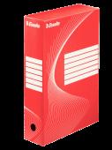 Архивна кутия Esselte, червена, 80мм
