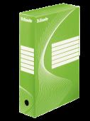 Архивна кутия Esselte, зелена, 80мм