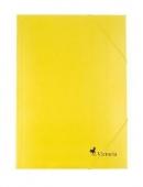 Папка картонена с ластик, жълта