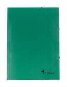 Папка картонена с ластик, зелена