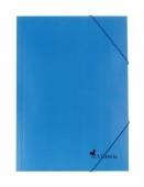 Папка картонена с ластик, синя