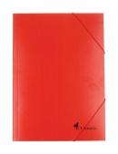 Папка картонена с ластик, червена