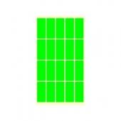 Етикети за цени 21х51, зелени, 200бр