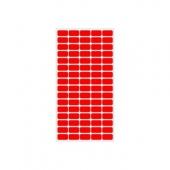 Етикети за цени 12х22, червени, 800бр