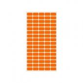 Етикети за цени 12х22, оранжеви, 800бр