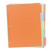 Разделител А4, 5 цвята картон