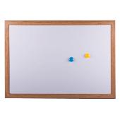 Бели магнитни табла с дървена рамка