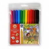 Флумастери Koh-i-Noor 12 цвята