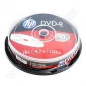DVD-R HP 4.7GB 16x cake 10бр.